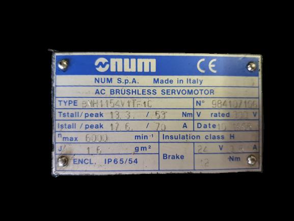 Moteur NUM BMH1154V1TF1C
